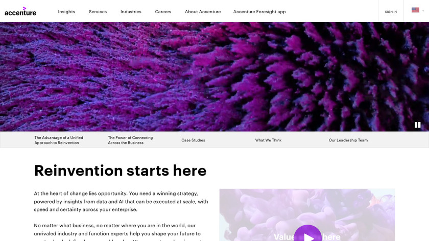 Accenture Consulting Landing Page
