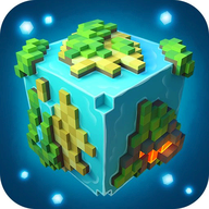 Planet of Cubes Survival Craft logo
