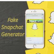 FakeInfo.net Fake Snap Chat Generator logo