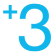 Plus Three logo