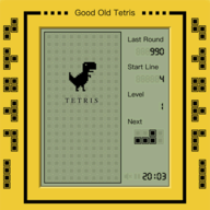 Good Old Tetris logo