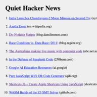 Quiet Hacker News logo