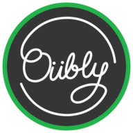 Oubly Edge Painted Business Cards logo