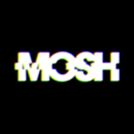 MOSH glitch effects logo